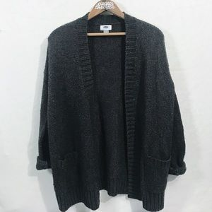 Old Navy Charcoal Gray Cozy Sweater Cardigan